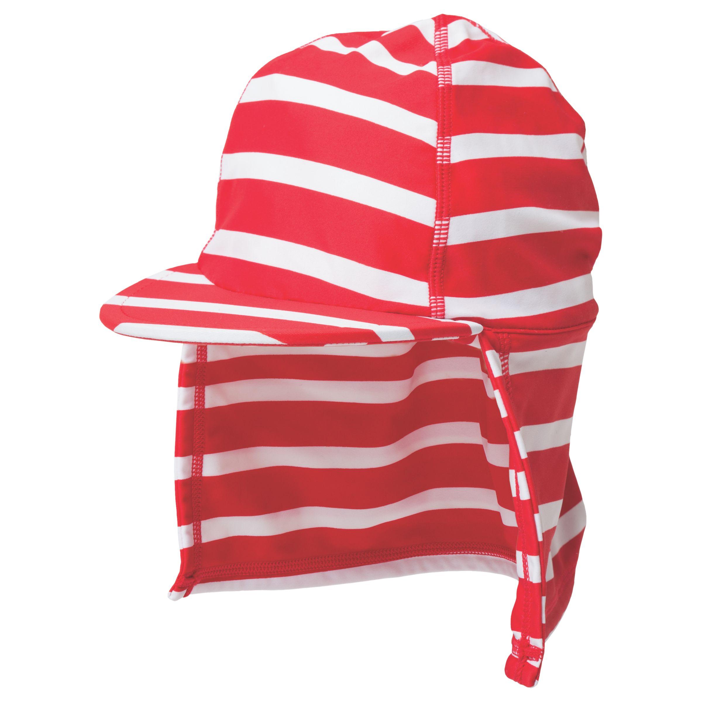 Frugi Organic Frugi Organic Baby Little Swim Striped Legionnaires Hat, Red/White