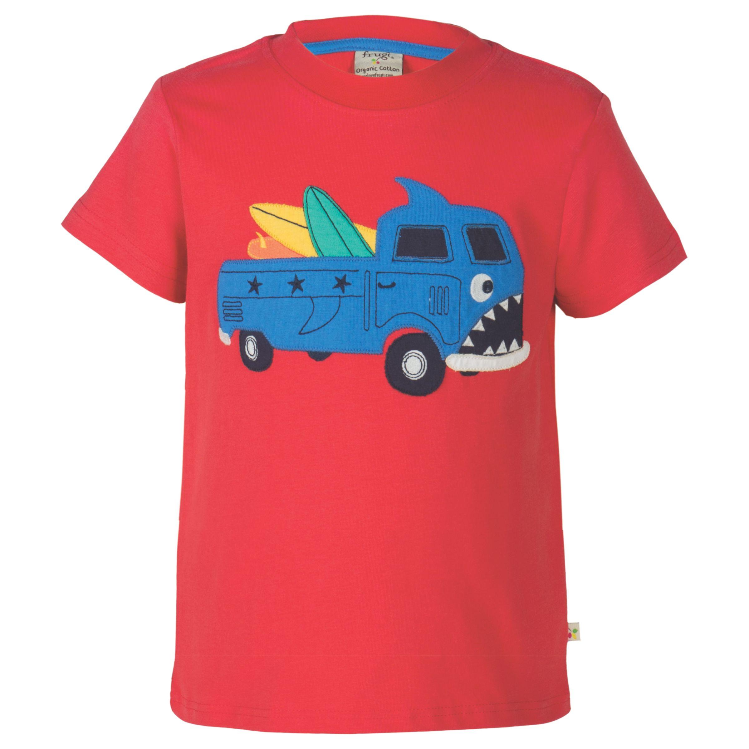 Frugi Organic Frugi Organic Boys' Stanley Truck T-Shirt, Red