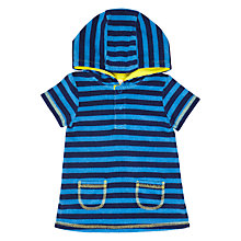 Buy John Lewis Baby Short Sleeve Striped Towelling Poncho Online at johnlewis.com