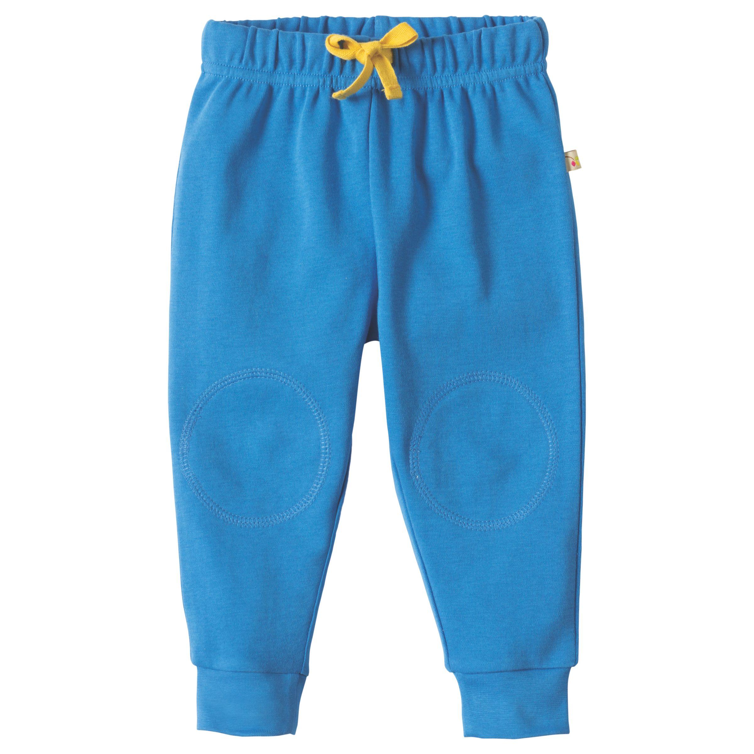 Frugi Organic Frugi Organic Baby Knee Patch Crawler Trousers, Blue