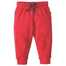 Buy Frugi Organic Baby Knee Patch Crawler Trousers, Red Online at johnlewis.com
