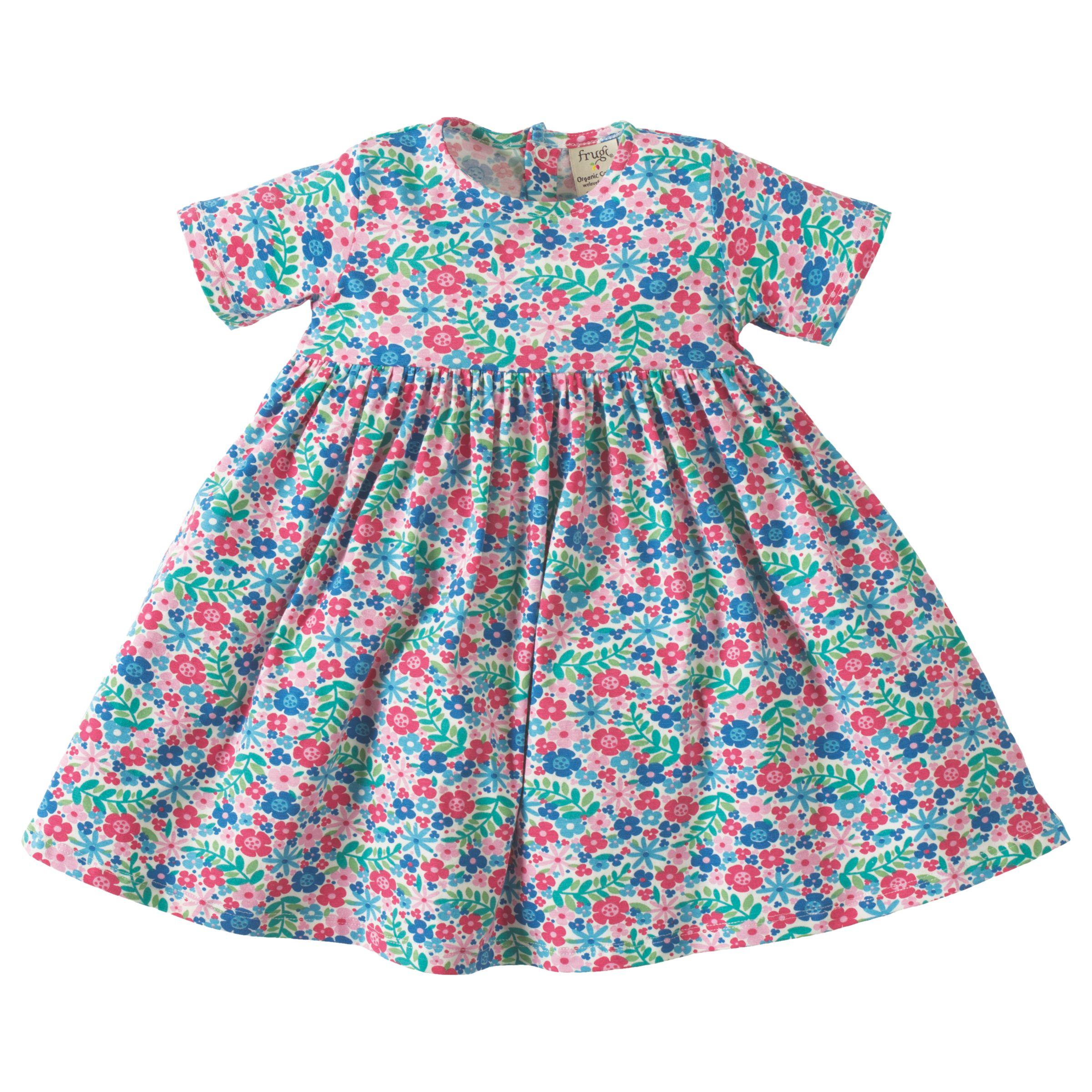 Frugi Frugi Organic Baby Ditsy Garden Romper Dress, Multi