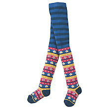 Buy Frugi Organic Girls' Norah Floral Fair Isle Tights, Multi Online at johnlewis.com