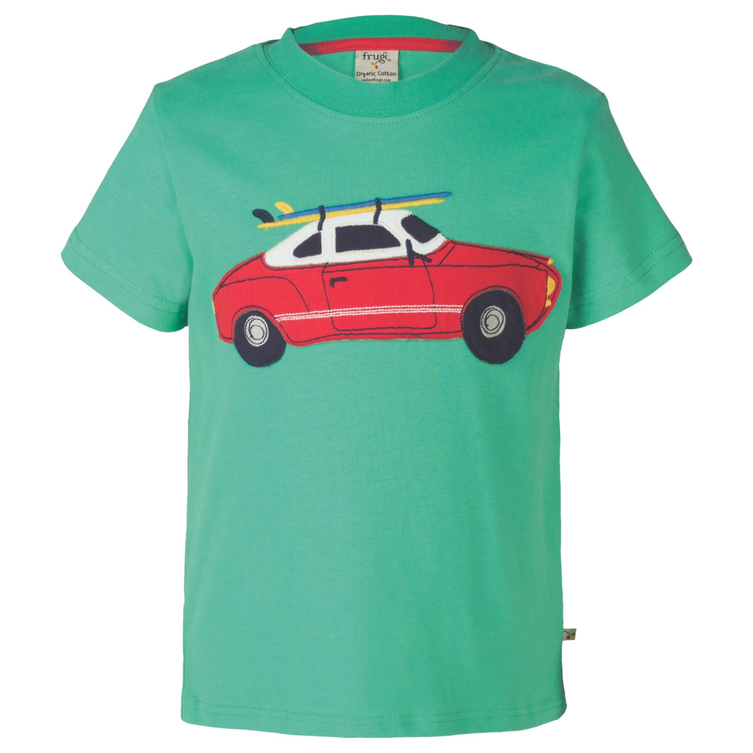 Frugi Organic Frugi Organic Boys' Stanley Car T-Shirt, Green