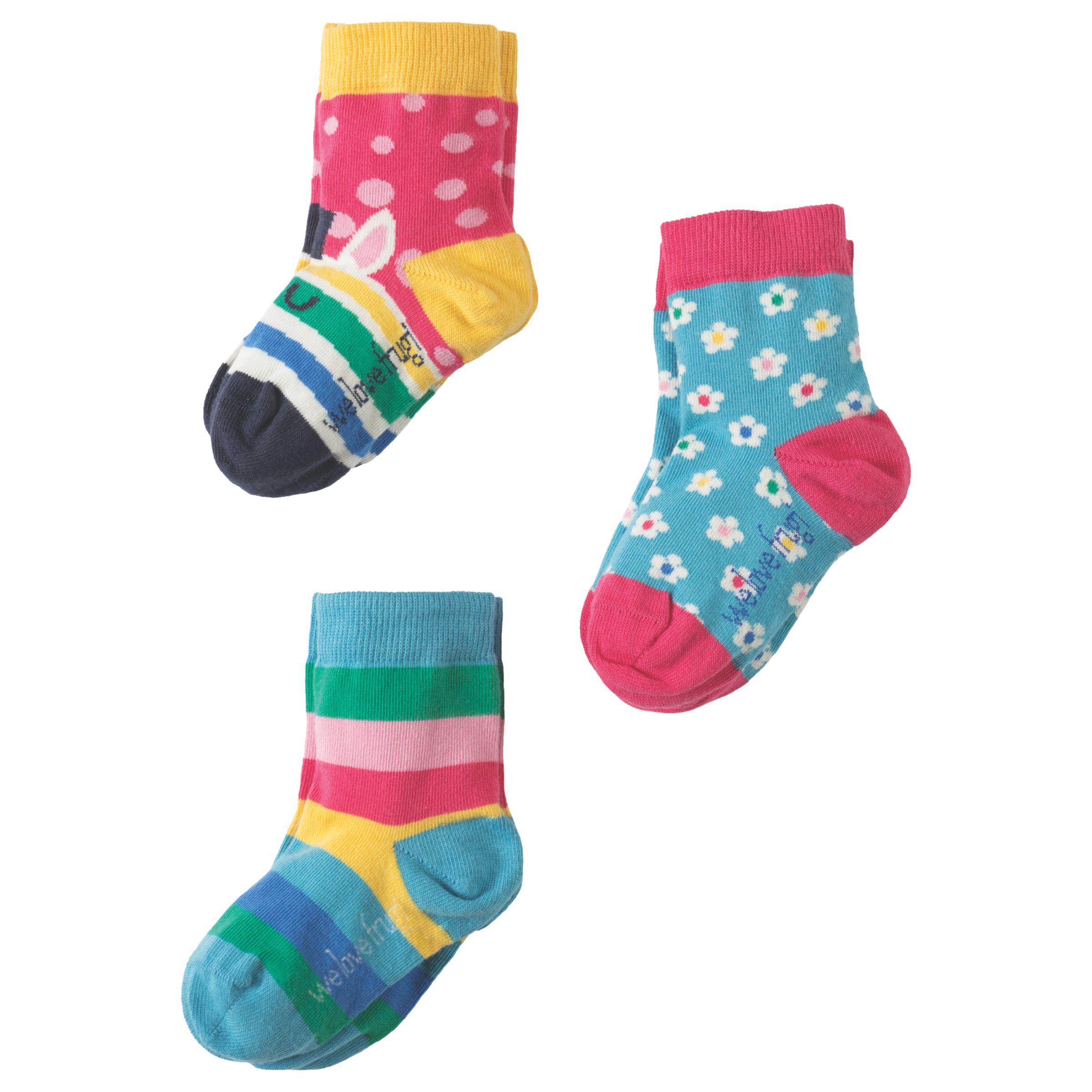 Frugi Organic Frugi Organic Girls' Susie Socks, Pack of 3, Multi