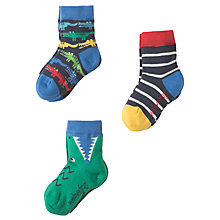 Buy Frugi Organic Baby Rock My Socks, Pack of 3, Assorted Online at johnlewis.com