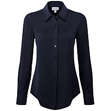 Buy Pure Collection Francesca Pure Silk Blouse, Midnight Online at johnlewis.com