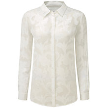 Buy Pure Collection Belford Jacquard Blouse, Ivory Online at johnlewis.com