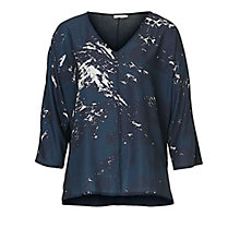 Buy Betty & Co. Graphic Print Top, Blue/Dark Blue Online at johnlewis.com