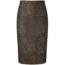 Buy Pure Collection Fewston Jacquard Pencil Skirt, Bronze Online at johnlewis.com