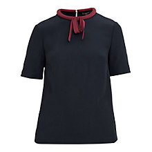 Buy Ted Baker Colour By Numbers Sassa Tie Neck Top Online at johnlewis.com