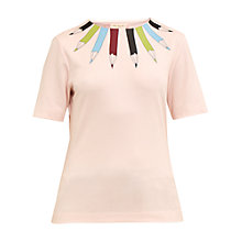 Buy Ted Baker Colour By Numbers Thanaa Pencil Neckline Print Top Online at johnlewis.com