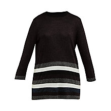 Buy Ted Baker Colour By Numbers Zatta Metallic Stripe Jumper, Maroon Online at johnlewis.com