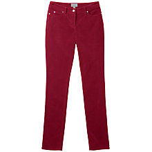 Buy Pure Collection Clare Washed Velvet Jeans, Russet Red Online at johnlewis.com