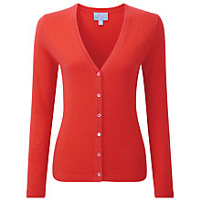 Buy Pure Collection Melissa Cashmere V Neck Cardigan, Poppy Red Online at johnlewis.com