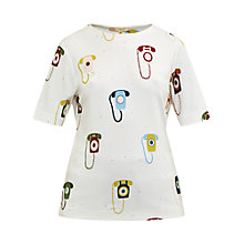 Buy Ted Baker Colour By Numbers Koanna Telephone Print Top Online at johnlewis.com