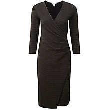 Buy Pure Collection Sophia Heavy Jersey Wrap Dress, Black/Gold Online at johnlewis.com