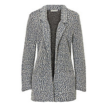 Buy Betty & Co. Chunky Knit Cardigan, Dark Blue/White Online at johnlewis.com