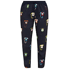 Buy Ted Baker Colour By Numbers Ahanaa Telephone Print Joggers, Dark Blue Online at johnlewis.com