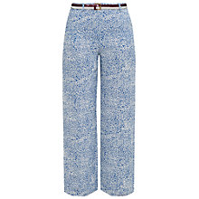 Buy Ted Baker Colour By Numbers Coley Fish Print Wide Leg Trousers, Light Blue Online at johnlewis.com