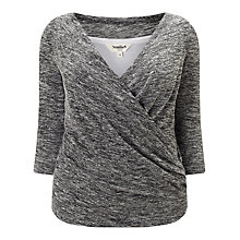 Buy Studio 8 Tara Wrap Front Top, Grey Marl Online at johnlewis.com