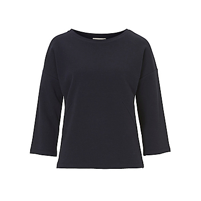 Betty & Co. 3/4 Length Sleeve Sweatshirt, Dark Sapphire