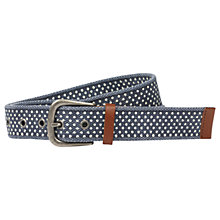 Buy Fat Face Polka Dot Belt, Navy/White Online at johnlewis.com