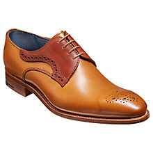 Buy Barker Cohen Derby Brogues, Chocolate/Rosewood Online at johnlewis.com