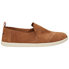 Buy Toms Suede Blanket Espadrilles, Toffee Online at johnlewis.com