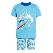 Buy John Lewis Children's Single Surfer Shortie Pyjamas, Blue/Multi Online at johnlewis.com