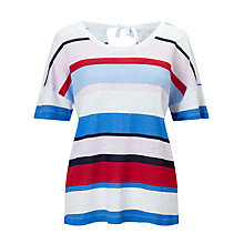 Buy Collection WEEKEND by John Lewis Tie Back Linen Top, Multi Online at johnlewis.com