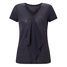 Buy John Lewis Frill Front Linen Top Online at johnlewis.com