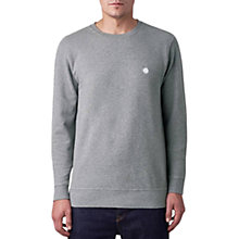 Buy Pretty Green Jersey Sweatshirt, Mid Grey Online at johnlewis.com