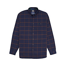 Buy Joules Buchanan Windowpane Check Shirt, Navy Online at johnlewis.com