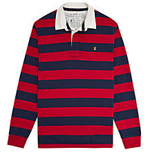 Buy Joules Onside Rugby Top, French Red Stripe Online at johnlewis.com