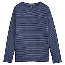 Buy Joules Breton Stripe Long Sleeve T-Shirt, Indigo Online at johnlewis.com