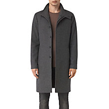 Buy AllSaints Valte Wool-Blend Overcoat, Grey Online at johnlewis.com