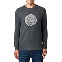 Buy Pretty Green Heyland Logo Sweatshirt, Charcoal Online at johnlewis.com