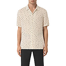 Buy AllSaints Yuma Mini Print Short Sleeve Shirt, Ecru Online at johnlewis.com