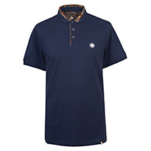 Buy Pretty Green Gretton Paisley Polo Top, Navy Online at johnlewis.com