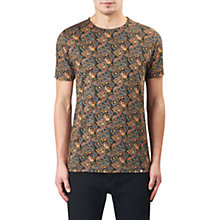 Buy Pretty Green Gretton Paisley T-Shirt, Grey/Red/Yellow Online at johnlewis.com