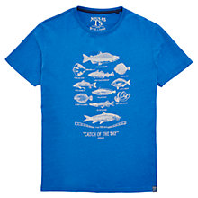 Buy Joules Catch of the Day Graphic Print T-Shirt, Bold Blue Online at johnlewis.com