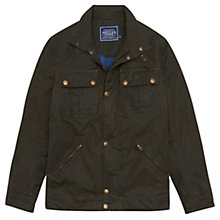 Buy Joules Hudson Wax Jacket, Olive Green Online at johnlewis.com