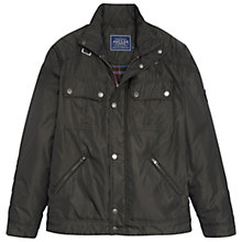 Buy Joules Harley Padded Biker Jacket, Black/Olive Online at johnlewis.com