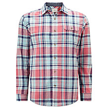 Buy John Lewis Large Scale Check Shirt, Pink Online at johnlewis.com