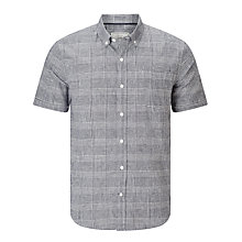 Buy John Lewis Lincot Smarter Check Short Sleeve Shirt, Navy Online at johnlewis.com