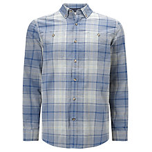 Buy John Lewis Large Scale Check Shirt, Blue Online at johnlewis.com