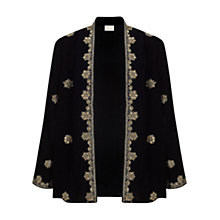 Buy East Zardozi Embellished Jacket, Black Online at johnlewis.com
