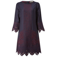 Buy White Stuff Lacy Panel Dress, Eccentric Blue Online at johnlewis.com