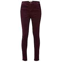 Buy White Stuff Velvet Jacquard Skinny Trousers, Harlem Purple Online at johnlewis.com